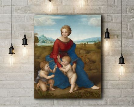 Raphael: Madonna in the Meadow. Fine Art Canvas.